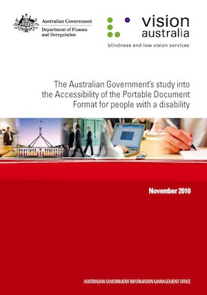 The cover of the AGIMO report