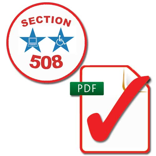 Section 508 and PDF images
