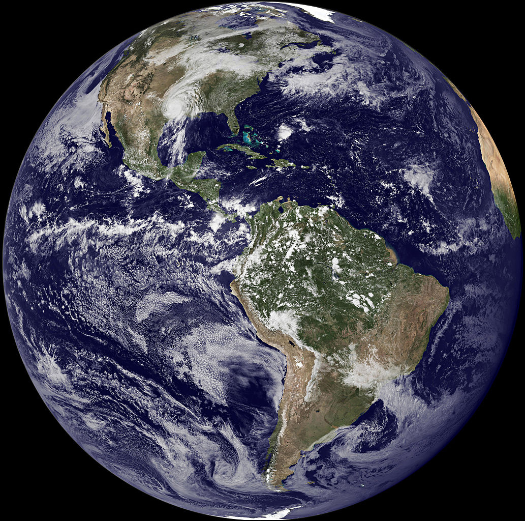 Photograph of planet Earth as seen from outer space.